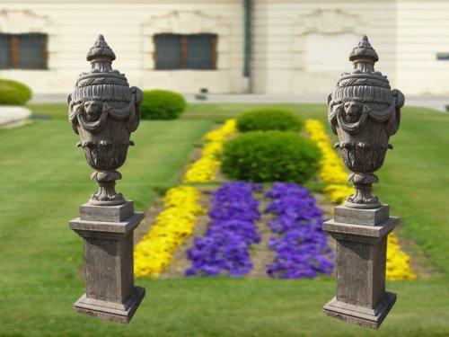 A pair of Beautiful Marble Urns Stone Urn Planter