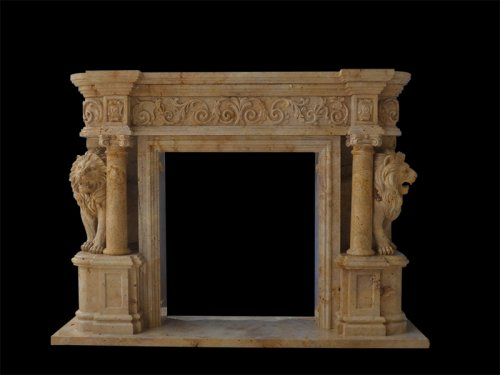 Hand-carved Antique Marble Fireplace
