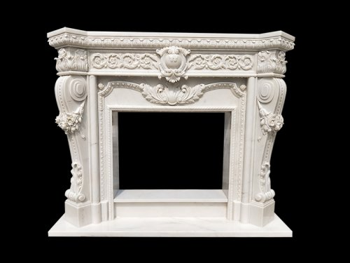 <b>Carved Marble Fireplace Surround</b>