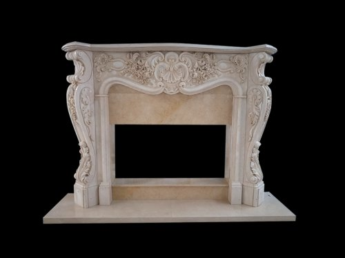 Pink Marble Fireplace