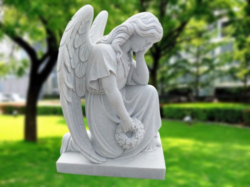 <b>Cemetery Marble Angel Statues</b>