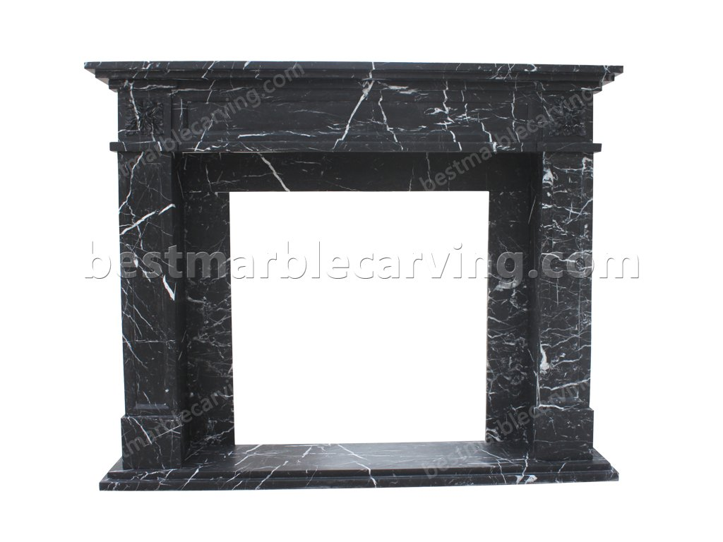 Black and White Marble Fireplace-black and white marble fireplace (1)