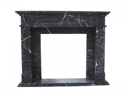 Black and White Marble Fireplace