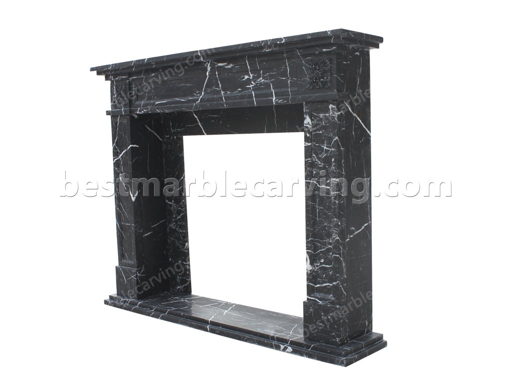Black And White Marble Fireplace Mordern Statue Marble Fireplace Fountain