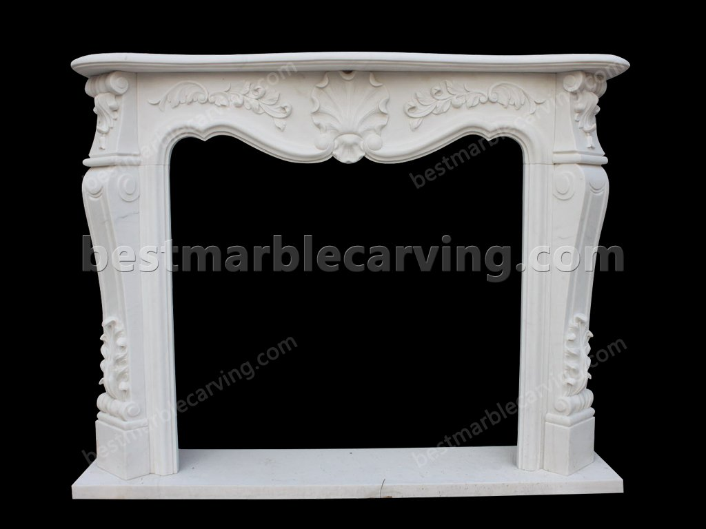 Fireplace with White Marble Surround-fireplace with white marble surround (1)