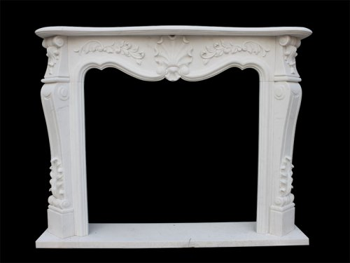 <b>Fireplace with White Marble Surround</b>