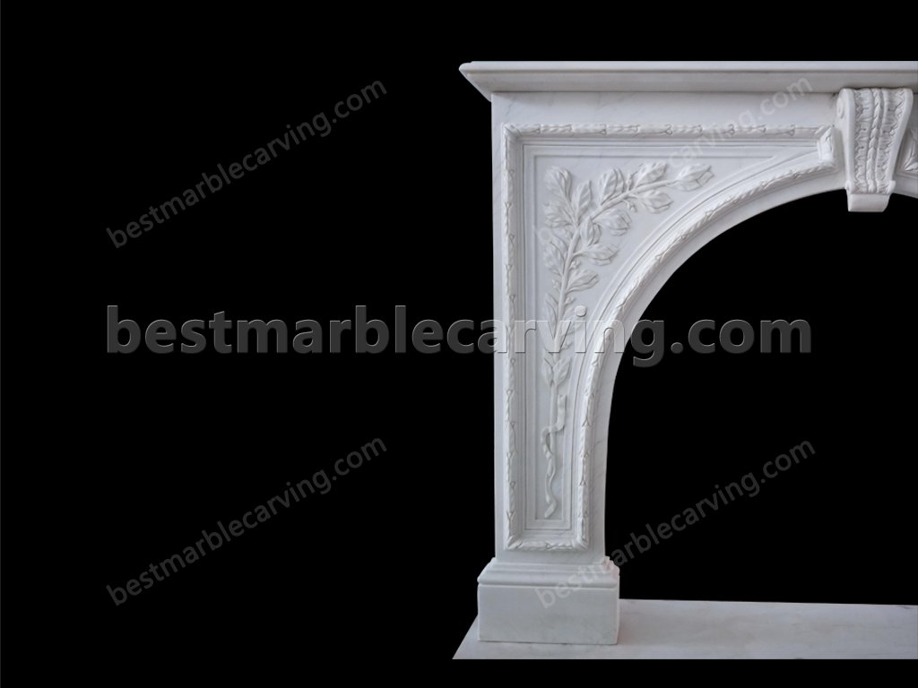 White Marble Fireplace Mantel-white marble fireplace mantel (3)