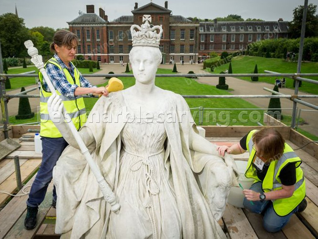 How to Clean Marble Item? Cleaner are cleaning marble statue