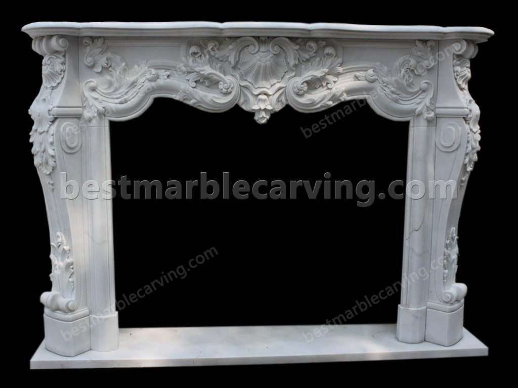 White Marble Fireplace Surround-white-marble-fireplace-surround-17
