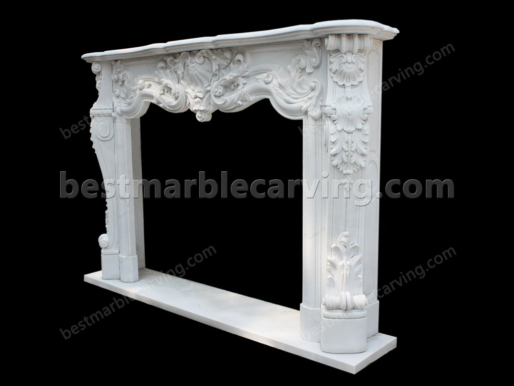 White Marble Fireplace Surround-white marble fireplace surround (3)