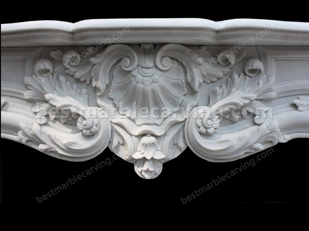 White Marble Fireplace Surround-white marble fireplace surround (4)