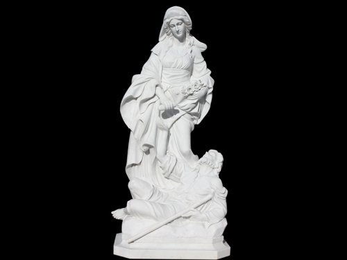 Mary marble statue