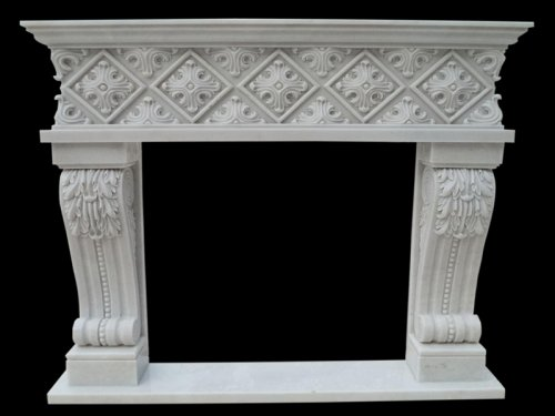 White Marble Fireplace Hearth