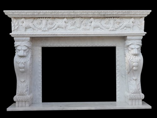 Marble Slab Fireplace
