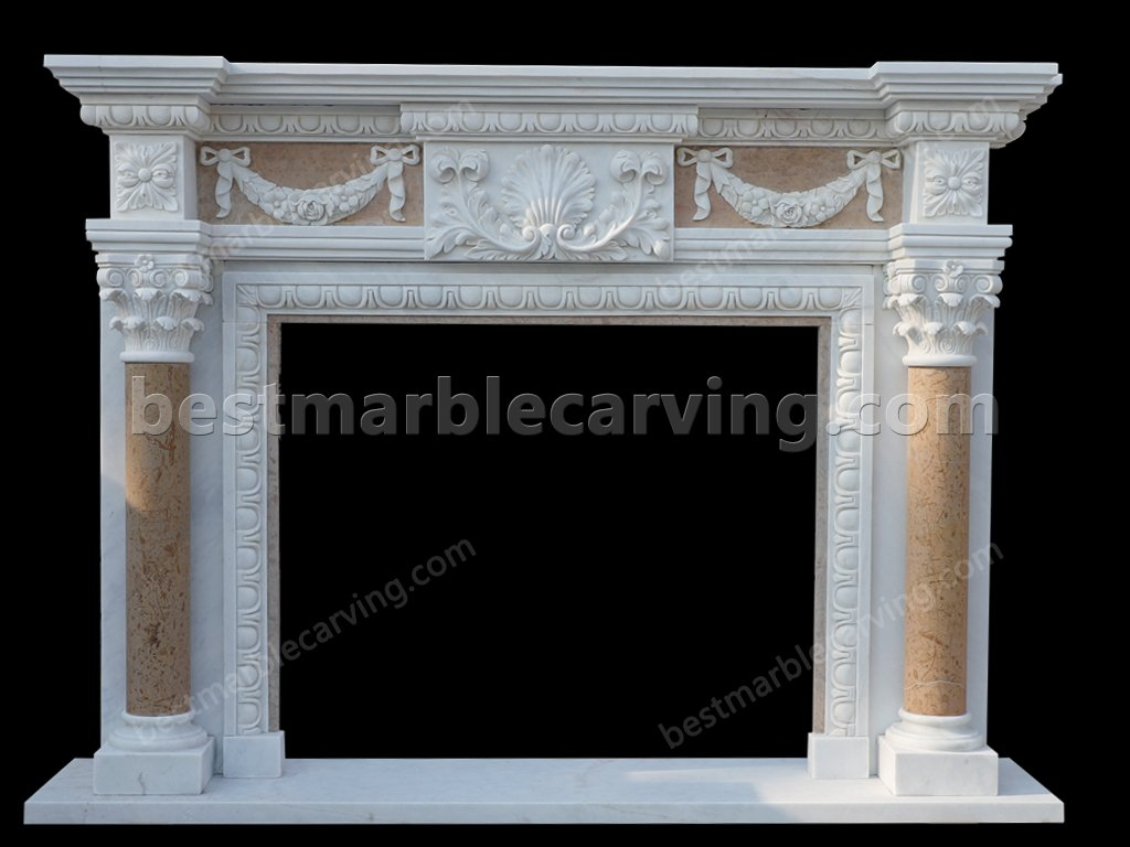 Marble Tile Fireplace-marble tile fireplace (1)