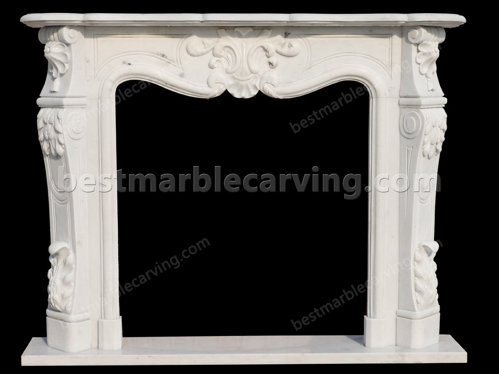 White Marble Fire Surround-white marble fire surround (1)