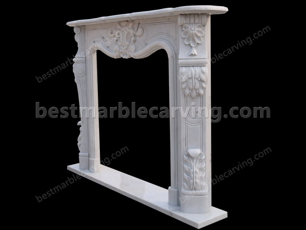 White Marble Fire Surround-white marble fire surround (4)