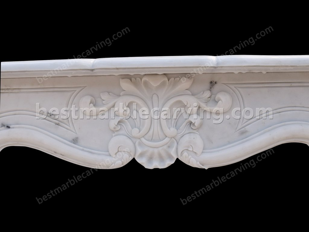White Marble Fire Surround-white marble fire surround (5)