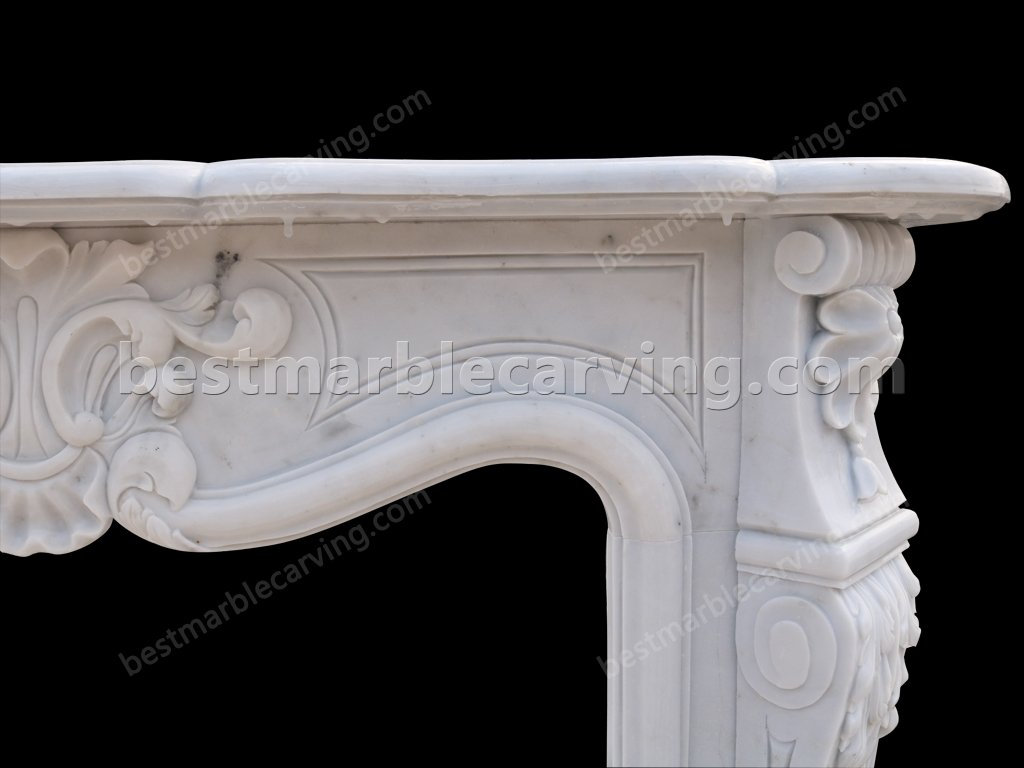 White Marble Fire Surround-white marble fire surround (6)