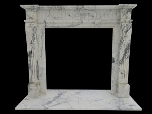 Italy Arabescato Marble Fireplace
