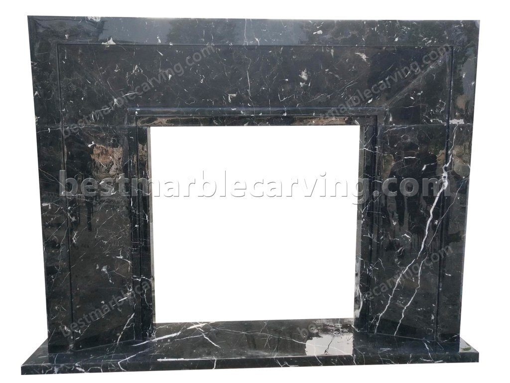 Black Marble Fireplace Surround-Black Marble Fireplace Surround (1)