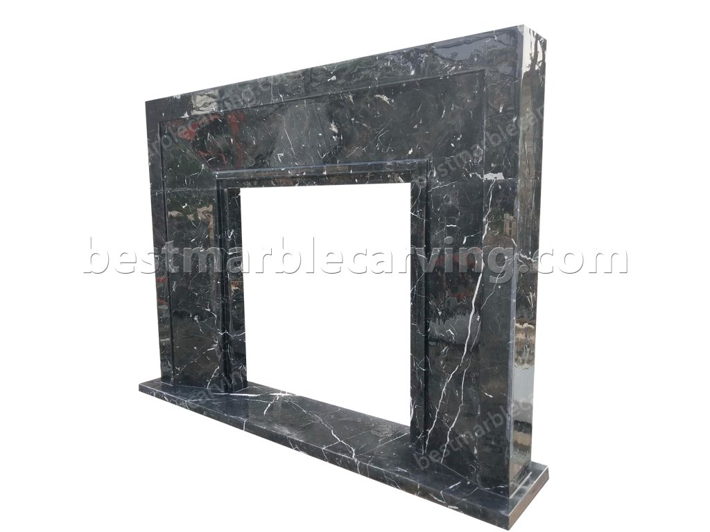 Black Marble Fireplace Surround-Black Marble Fireplace Surround (2)