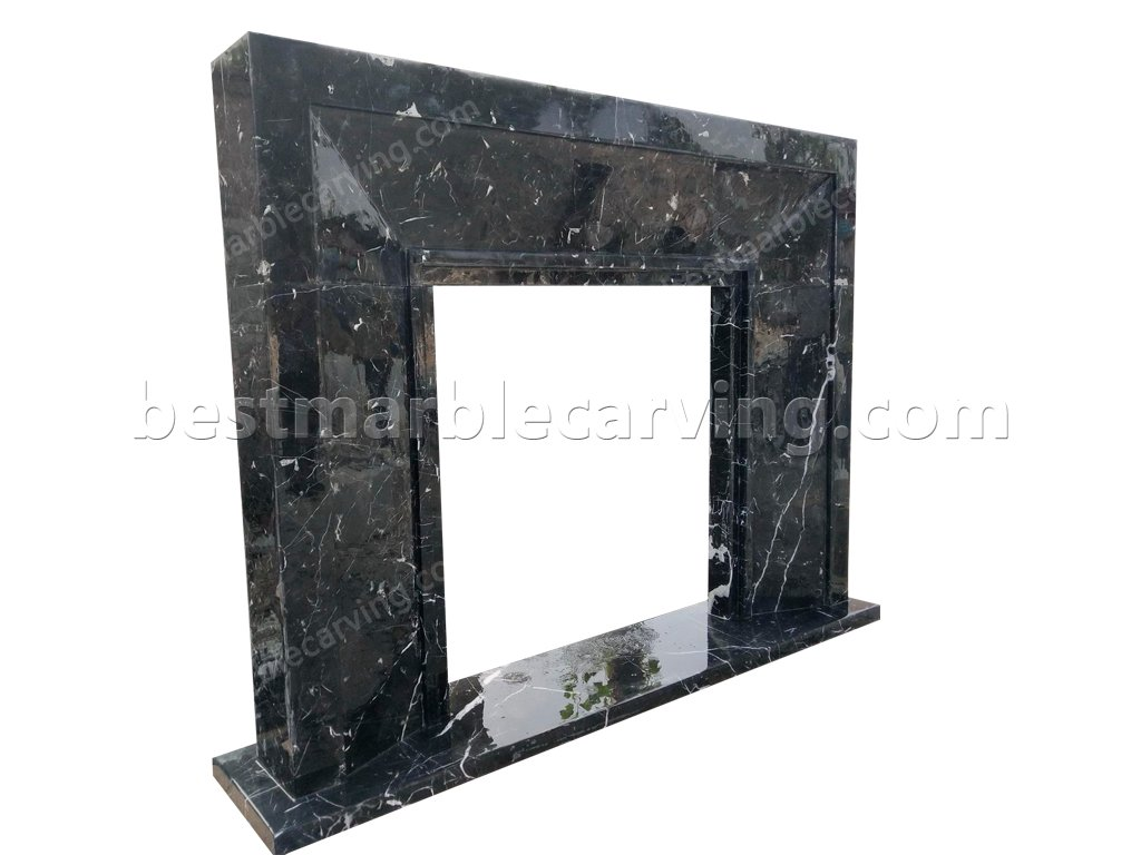 Black Marble Fireplace Surround-Black Marble Fireplace Surround (3)