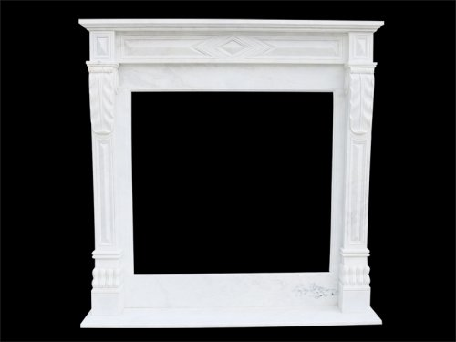 White Marble Fireplace Surround 1