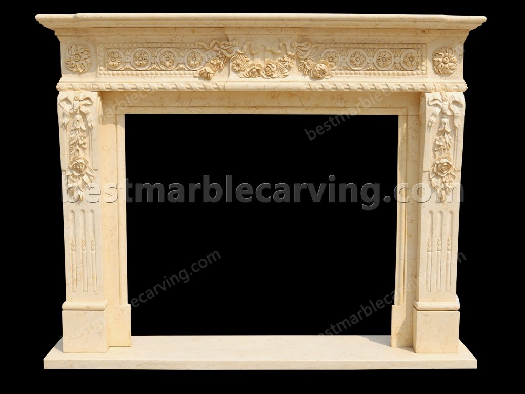 Marble Around Fireplace for Home Decoration-Marble Around Fireplace (1)