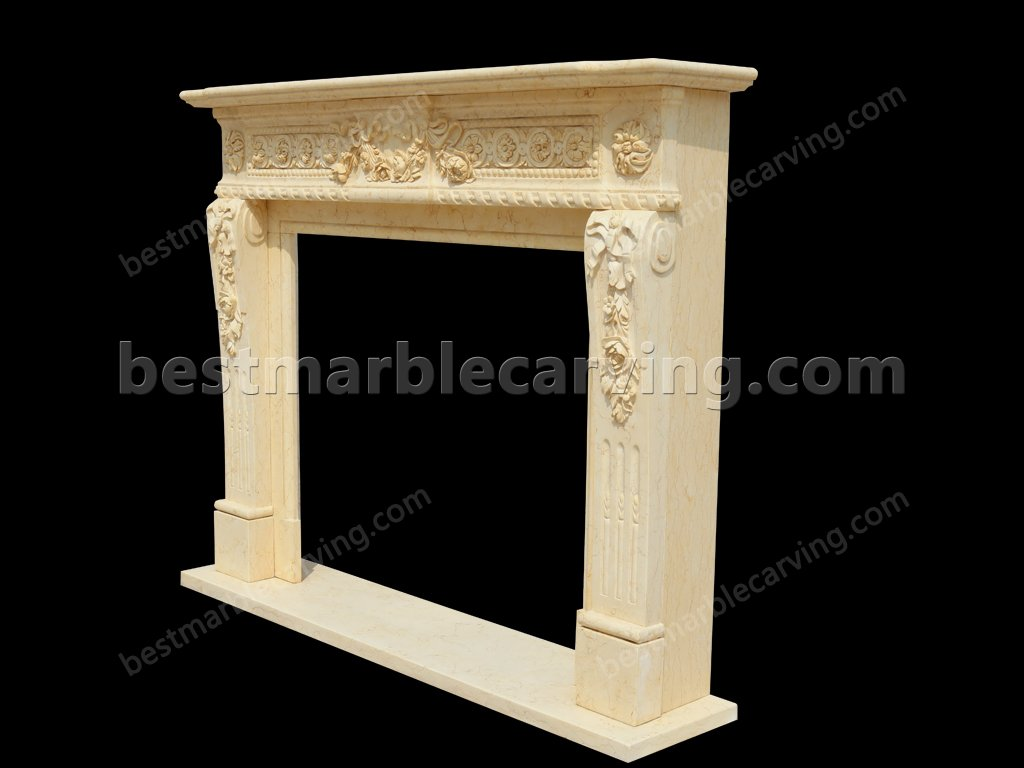 Marble Around Fireplace for Home Decoration-Marble Around Fireplace (2)