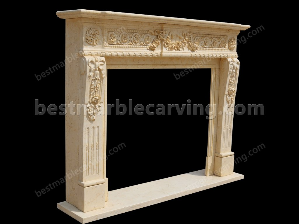 Marble Around Fireplace for Home Decoration-Marble Around Fireplace (3)