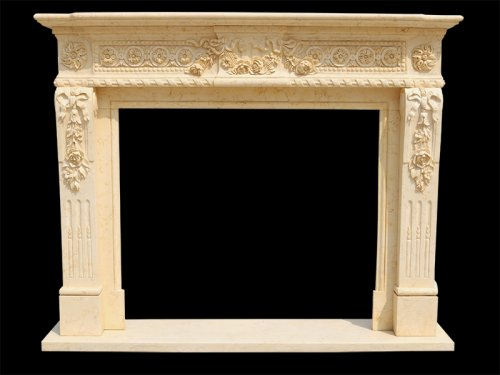 Marble Around Fireplace for Home Decoration